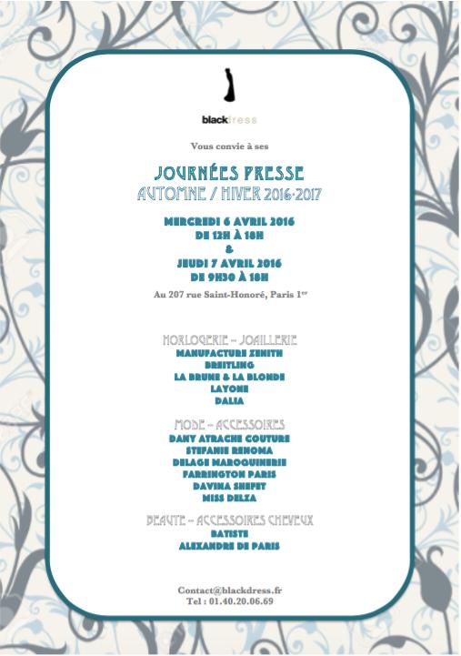 Marion Cortes - invitation aux portes ouvertes de l'agence Blackdress
