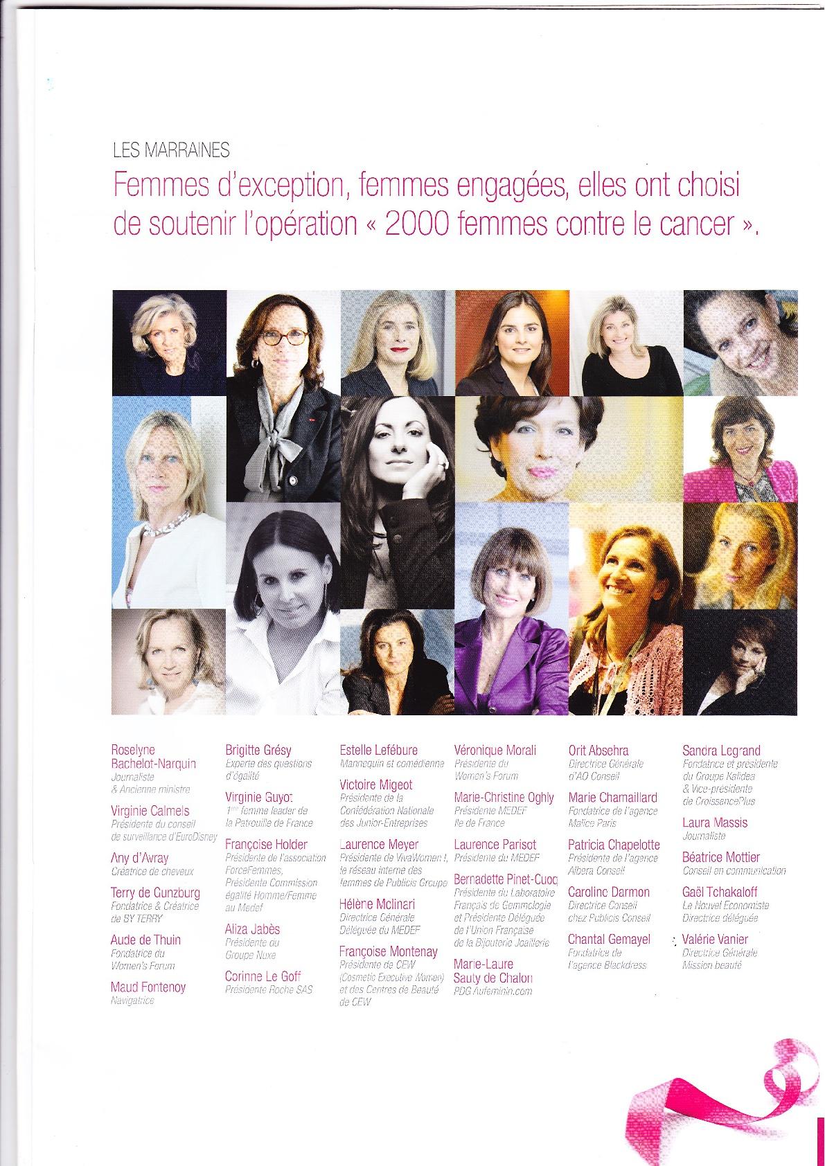 2000 Femmes Contre le Cancer Mars 2013